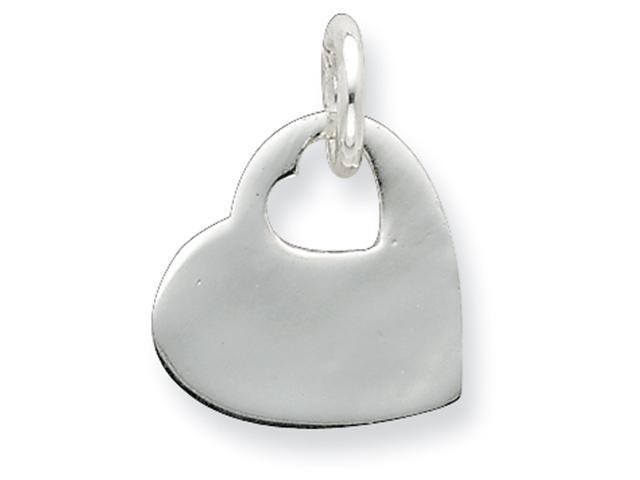 Sterling Silver Heart w/Cut Out Heart Disc Charm