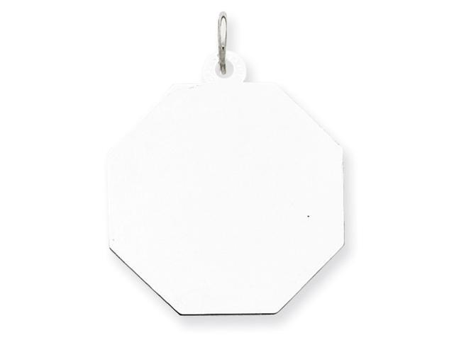 Sterling Silver Engraveable Octagon Disc Charm