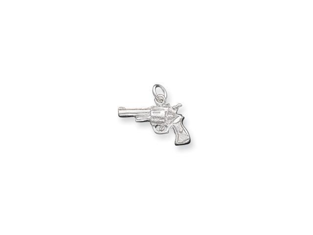 Sterling Silver Revolver Charm