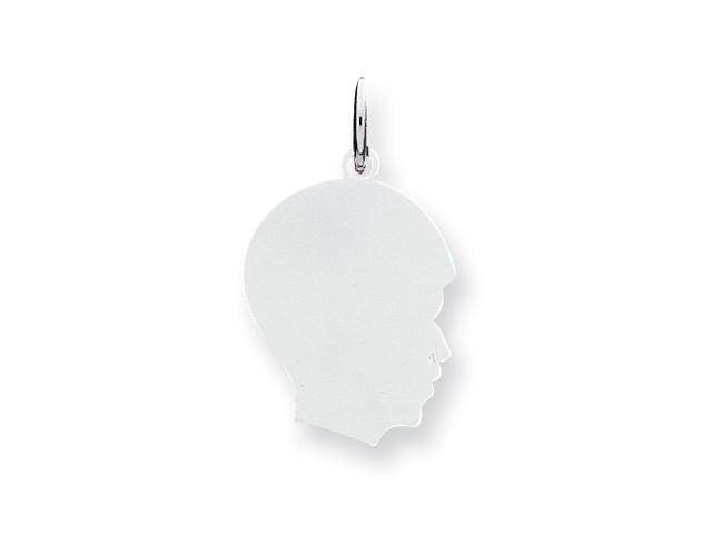 Sterling Silver Engraveable Boy Disc Charm