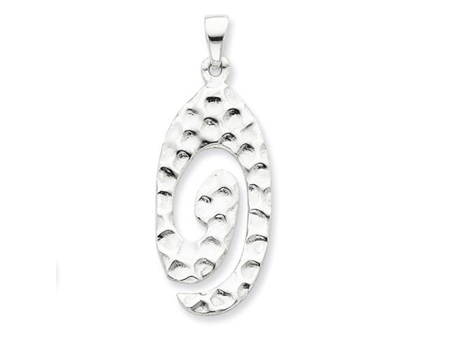 Sterling Silver Polished & Textured Swirl Pendant
