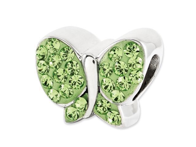 Sterling Silver Reflections Green Swarovski Butterfly Bead