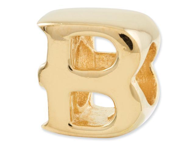 Sterling Silver Gold-plated Reflections Letter B Bead