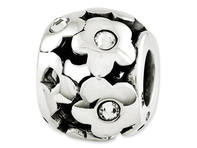 Sterling Silver Reflections Swarovski Elements Flowers Bead