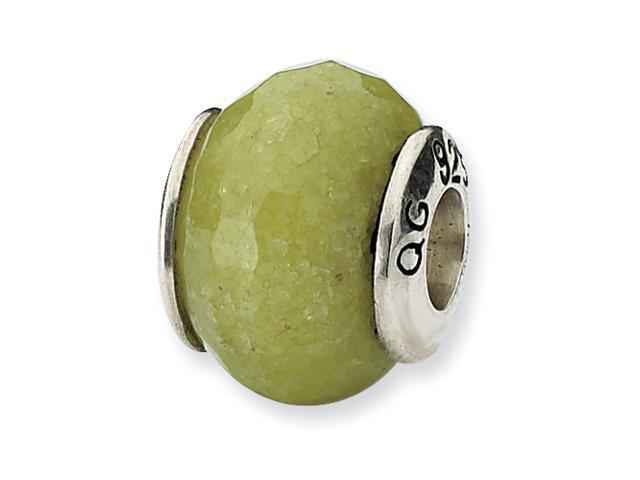 Sterling Silver Reflections Apple Green Quartz Stone Bead