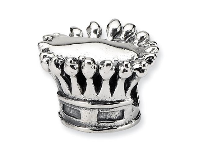 Sterling Silver Reflections Kids Crown Bead