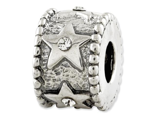 Sterling Silver Reflections Swarovski Elements Star Bead