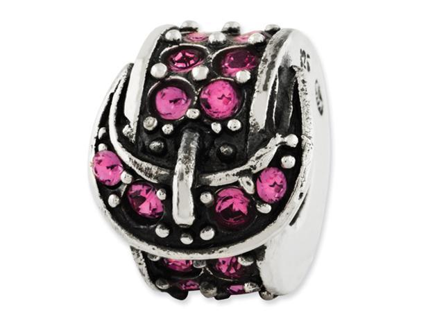 Sterling Silver Reflections Pink Swarovski Elements Buckle Bead