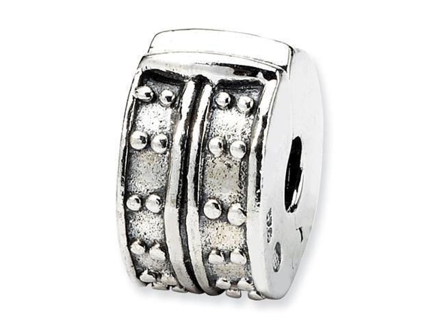 Sterling Silver Reflections Hinged Dotted Clip Bead