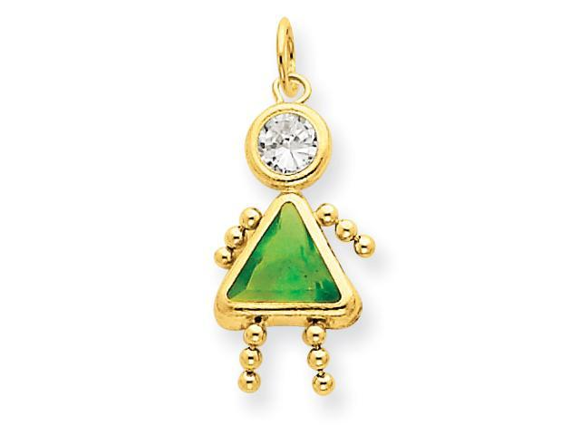 14k August Girl Gemstone Charm
