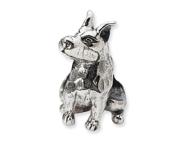 Sterling Silver Reflections Doberman Pinscher Bead