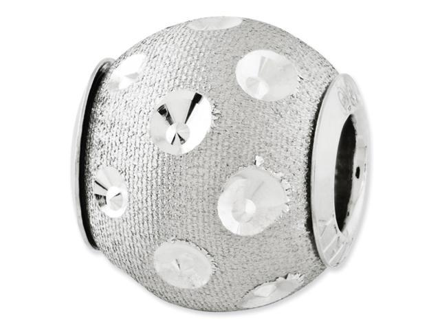 Sterling Silver Reflections Diamond-cut Bead