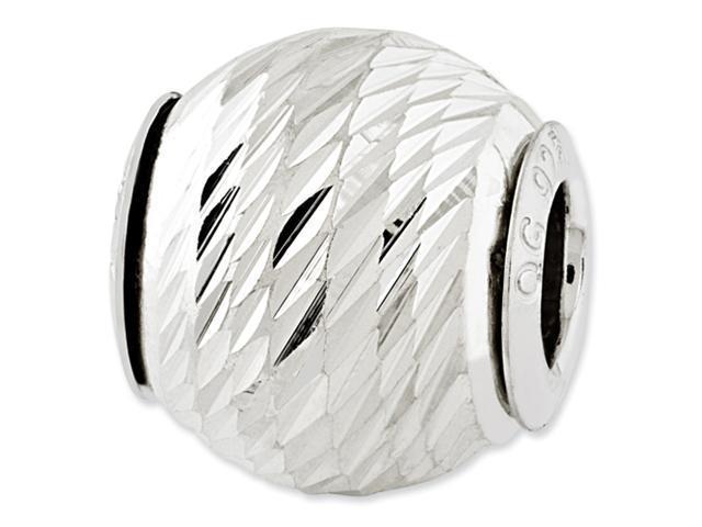 Sterling Silver Reflections Diamond-cut Bead