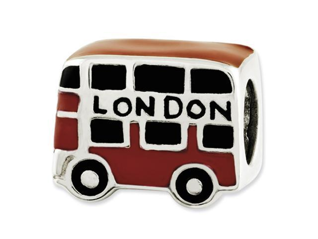 Sterling Silver Reflections Enamel London Double Decker Bus Bead
