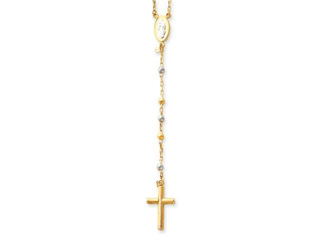 14k Two-tone with Diamond-cut Bead Rosary
