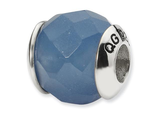Sterling Silver Reflections Blue Quartz Stone Bead