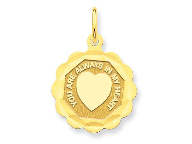 14k You Are Always In My Heart Charm