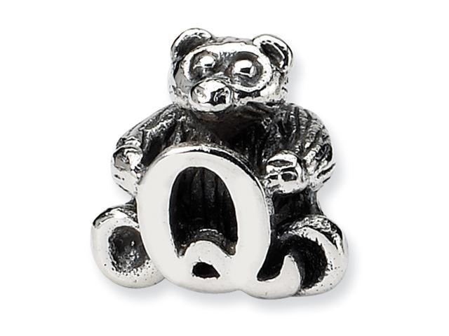 Sterling Silver Reflections Kids Letter Q Bead
