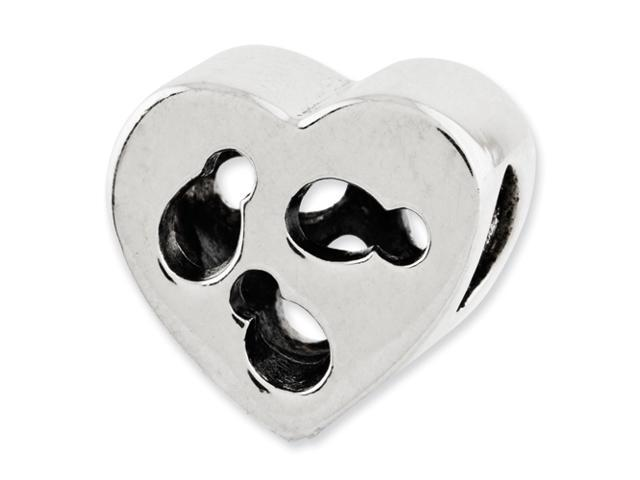 Sterling Silver Reflections Kids Cut-out Heart Bead
