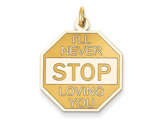 14k I'll Never Stop Loving You Charm