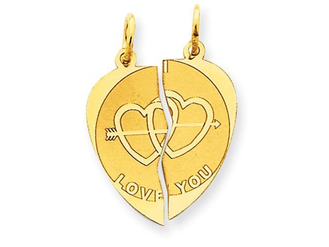 14k Break-apart I Love You Charm
