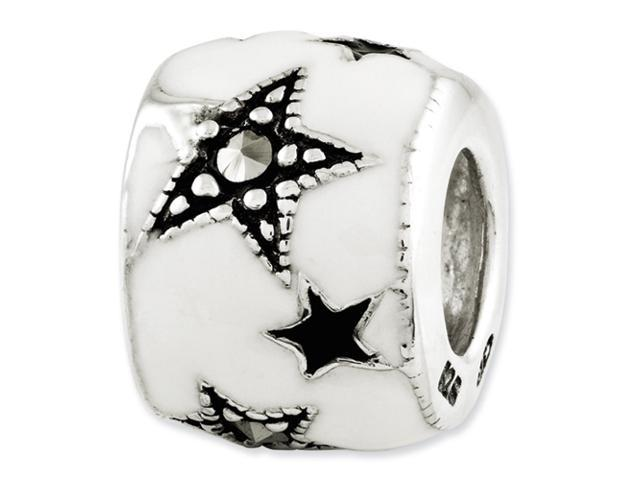 Sterling Silver Reflections Marcasite & Enameled Star Bead