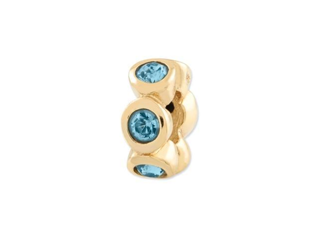 Sterling Silver Gold-plated Reflections March Swarovski Crystal Bead