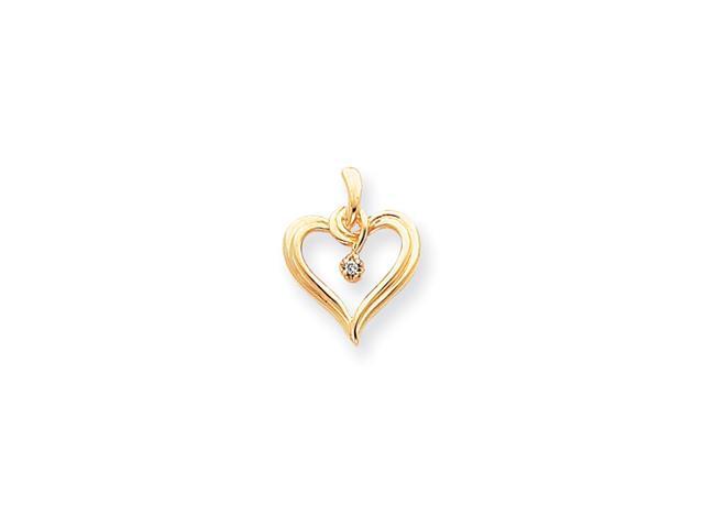 14k A Diamond heart pendant Diamond quality A (I2 clarity, I-J color)
