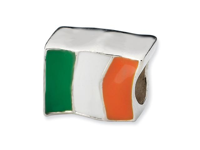 Sterling Silver Reflections Ireland Flag Bead