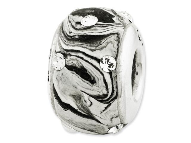 Sterling Silver Reflections Molded w/Swarovski Elements Bead