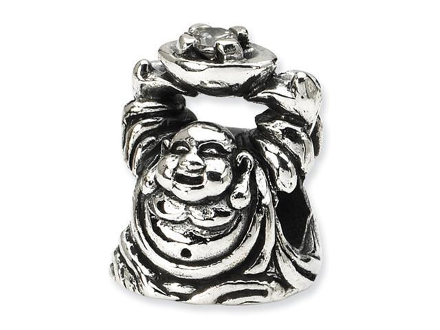 Sterling Silver Reflections CZ Buddha Bead