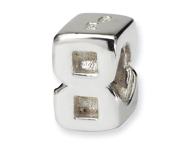 Sterling Silver Reflections Kids Numeral 8 Bead