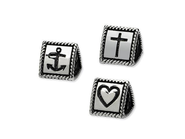 Sterling Silver Reflections Faith, Hope, Love Trilogy Bead