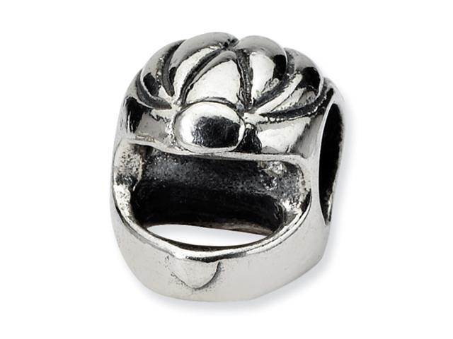 Sterling Silver Reflections Race Car Helmet Bead