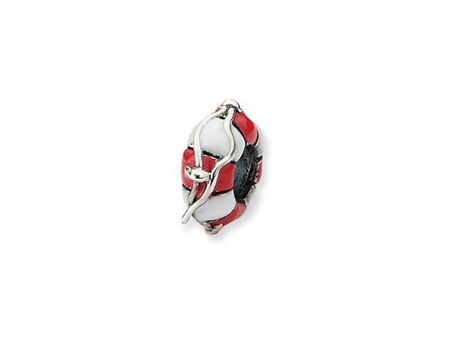 Sterling Silver Refelections Enameled Life Preserver Bead