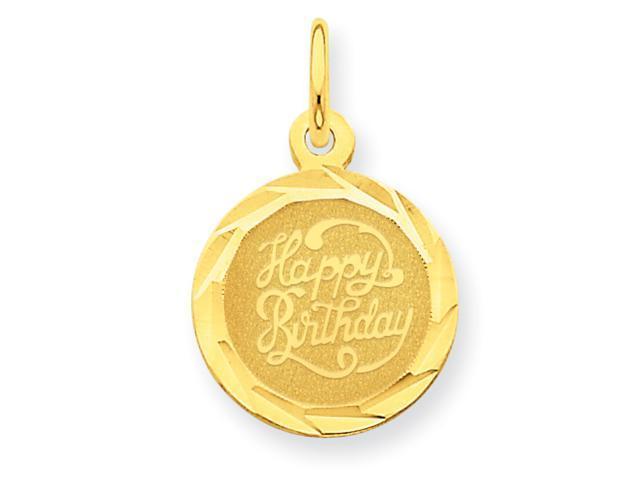 14k Happy Birthday Disc Charm