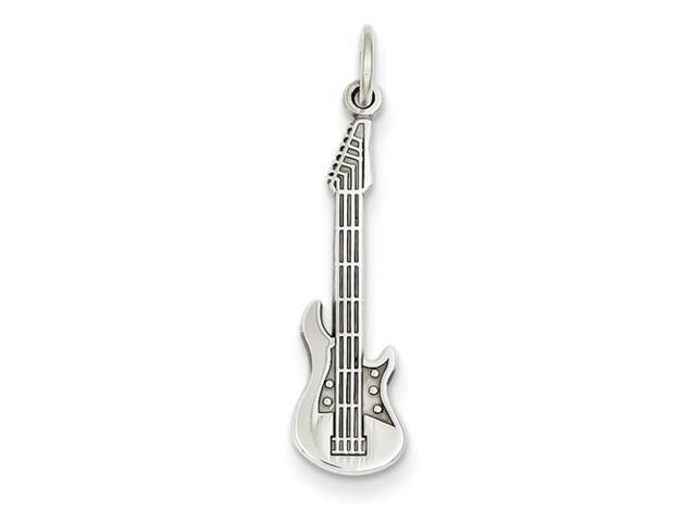 14k White Gold Guitar Charm