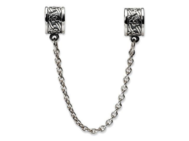 Sterling Silver Reflections Security Chain Floral Bead