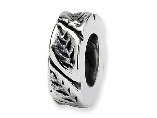 Sterling Silver Reflections Leaf Design Spacer Bead