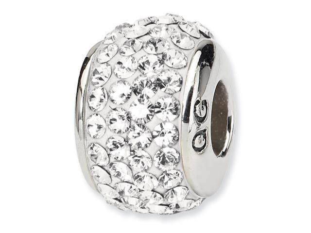 Sterling Silver Reflections White Full Swarovski Elements Bead