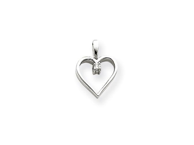 14k White Gold Heart Pendant Mounting