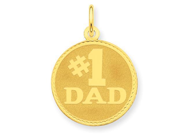 14K #1 Dad Charm