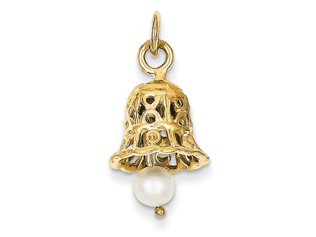 14k Wedding Bell with Pearl Charm