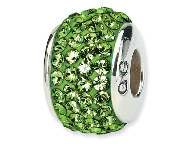 Sterling Silver Reflections Green  Full Swarovski Elements Bead