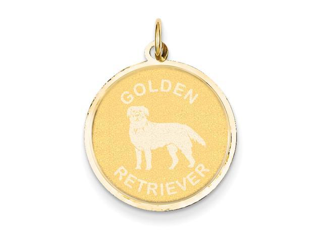 14k Golden Retriever Disc Charm