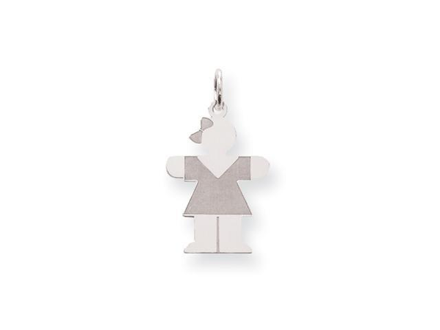 Sterling Silver Hugs Kid Charm