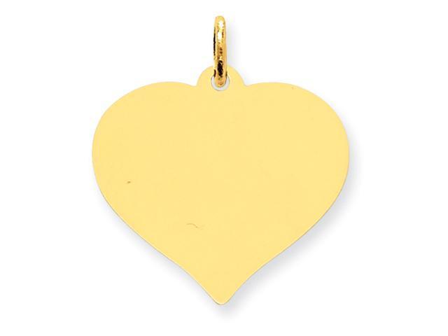14K Heart Disc Charm