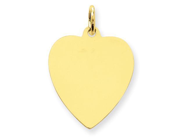 14k Plain .011 Gauge Engraveable Heart Disc Charm