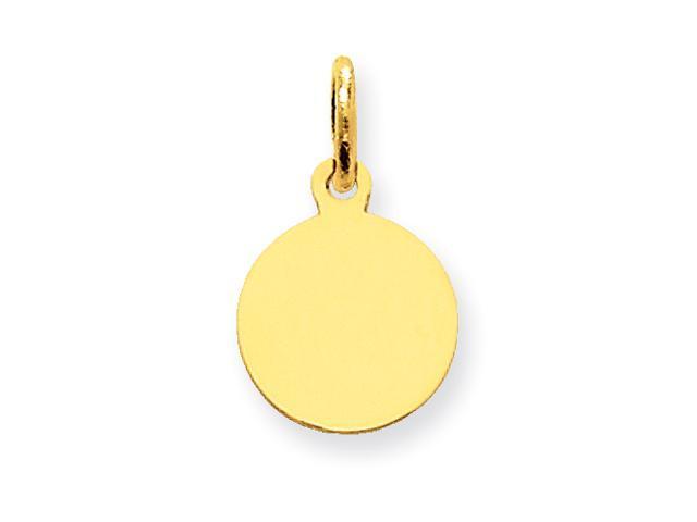 14k Plain .018 Gauge Circular Engraveable Disc Charm