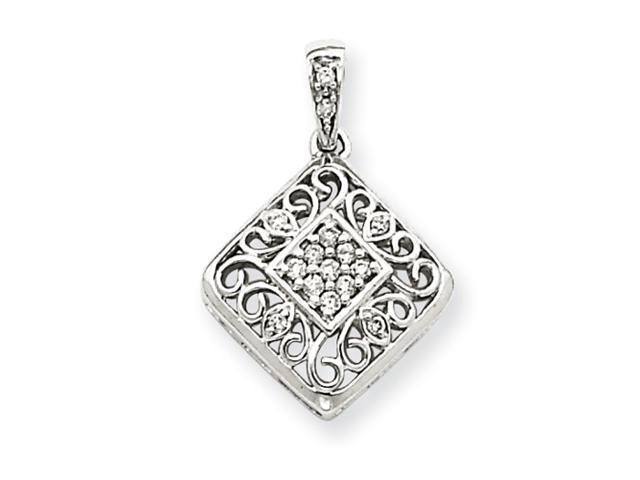 14k White Gold Diamond Pendant Diamond quality AA (I1 clarity, G-I color)